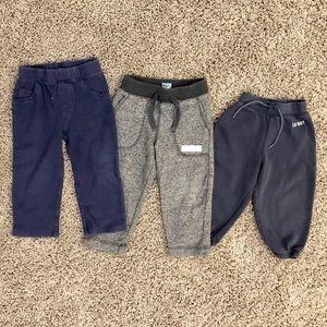 5/$25, 3 pairs of boys sweatpants size 18M-2T